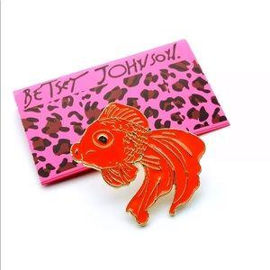 Betsey Johnson red koi fish pin💕